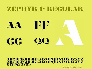 Zephyr 1-