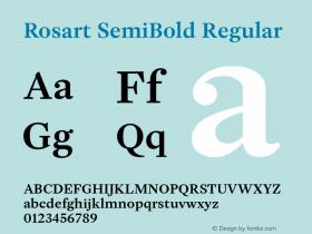 Rosart SemiBold