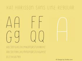 KAT Harisson Sans Line