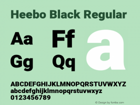 Heebo Black