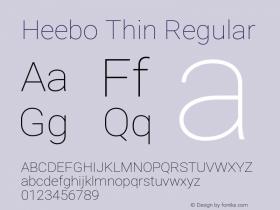 Heebo Thin
