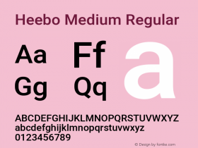 Heebo Medium