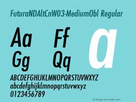 FuturaNDAltCn-MediumObl