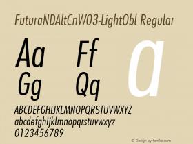 FuturaNDAltCn-LightObl