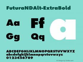 FuturaNDAlt-ExtraBold