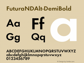 FuturaNDAlt-DemiBold