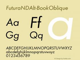 FuturaNDAlt-BookOblique