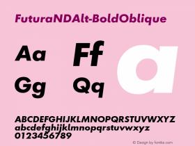 FuturaNDAlt-BoldOblique