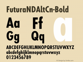 FuturaNDAltCn-Bold