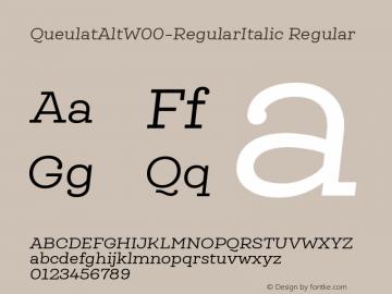QueulatAlt-RegularItalic