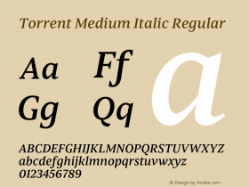 Torrent Medium Italic