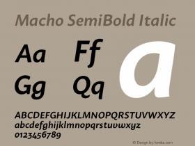 Macho SemiBold