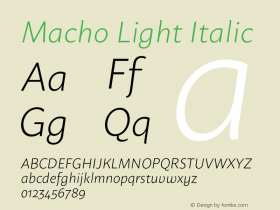Macho Light