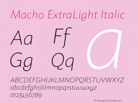 Macho ExtraLight