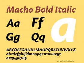 Macho Bold