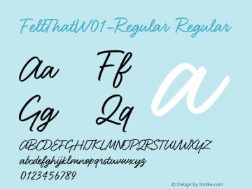 FeltThat-Regular