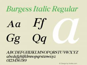 Burgess Italic