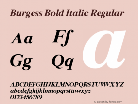 Burgess Bold Italic