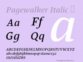 Pagewalker Italic