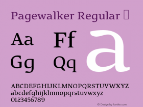 Pagewalker Regular
