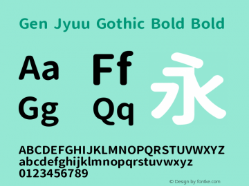 Gen Jyuu Gothic Bold