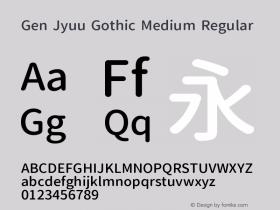 Gen Jyuu Gothic Medium