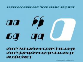 JakoneCondensed Bold Italic
