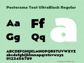 Posterama Text UltraBlack