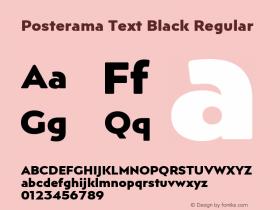 Posterama Text Black