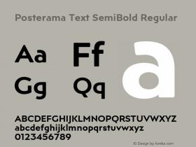 Posterama Text SemiBold