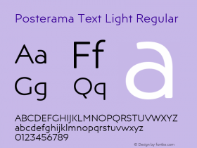 Posterama Text Light