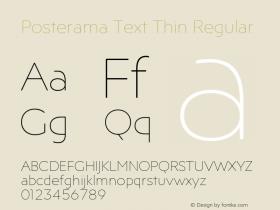 Posterama Text Thin