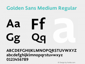 Golden Sans Medium