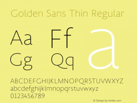 Golden Sans Thin