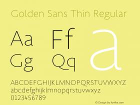 Golden Sans Thin