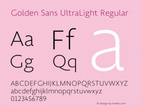 Golden Sans UltraLight