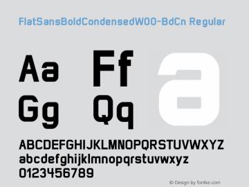 FlatSansBoldCondensed-BdCn