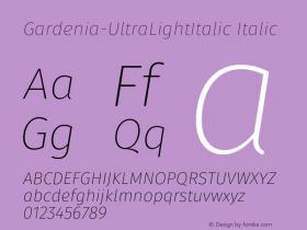 Gardenia-UltraLightItalic