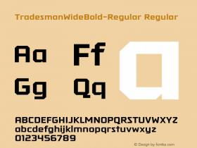 TradesmanWideBold-Regular