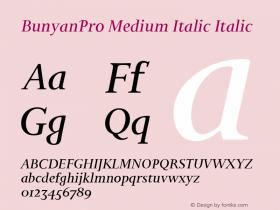 BunyanPro Medium Italic