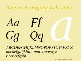 BunyanPro Regular Italic