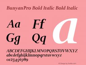 BunyanPro Bold Italic