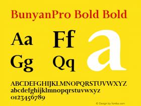 BunyanPro Bold