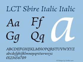 LCT Sbire Italic