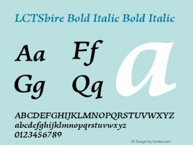 LCTSbire Bold Italic