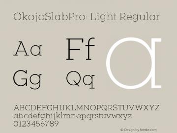 OkojoSlabPro-Light