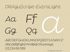 DRAguScript-ExtraLight