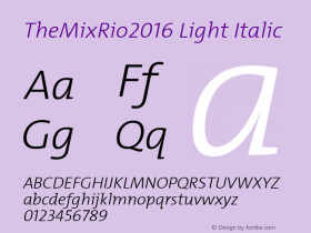 TheMixRio2016 Light