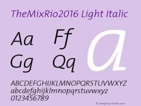 TheMixRio2016 Light