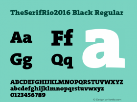 TheSerifRio2016 Black